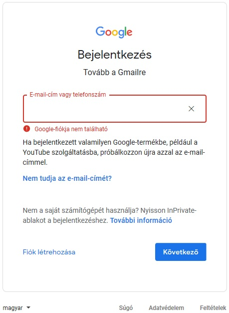 Gmail Bejelentkezés